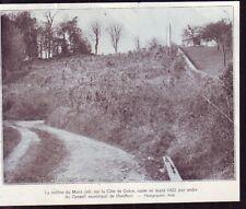 1923  --  HONFLEUR  COLINE DU MONT JOLI  COTE DE GRACE RASEE EN MARS 23    £820