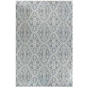 Grey Medallion Eco Cotton Rugs   Non Shed Flatweave Area Rug   Long Runner Rug
