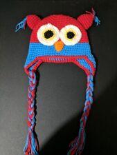 Baby  Toddler Crochet Owl Hat beanie cap size 6-12 months