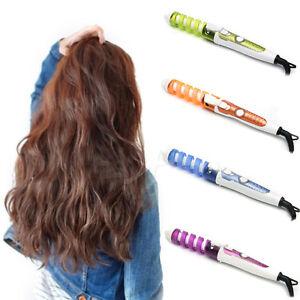 4 Colors Professional Hair Salon Spiral Ceramic Curling Curler Iron Color Random