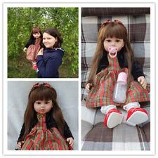 Realistic Lifelike Reborn Baby Dolls Handmade Newborn Vinyl Girl Doll 24''