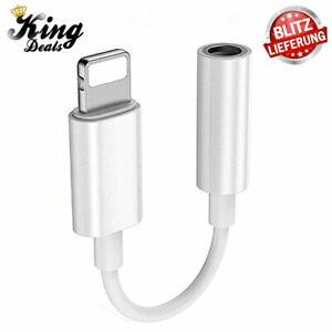 Apple AUX Adapter Klinke 3,5mm Adapterkabel Lightning für iPhone 12 11 X 8 7 6 5