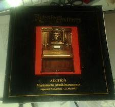 Retonio Gallery. Auction. Mechanische Musikinstrumente. 21. Mai 1983..