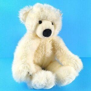 """Gund White Teddy Bear Schatzi 2236 Plush 16"""" Fluffy Floppy Stuffed Animal"""