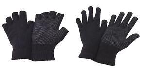 Fingerless or Full Finger Magic Rubber Grip Driving Gloves 2 Pairs Adult Handy