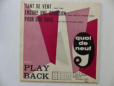 Quoi de neuf avec Play back Tant de vent JEAN NATY JACQUES LAFONT