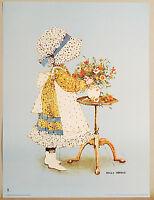 (PRL) HOLLY HOBBIE 1975 AMERICAN GREETINGS VINTAGE AFFICHE PRINT ARTE POSTER ART