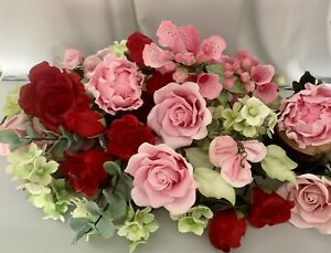 Pinks/Reds Wedding/Celebration Cake Topper/Decoration