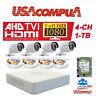 Hikvision kit 2MP 4CH 4 Cameras TVI 2.8MM  1TB Hard disk Bullet Camera 1080p