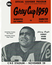 1959 Grey Cup Poster of Game Program Cover (Hamilton vs Winnipeg) - 8x10 Photo