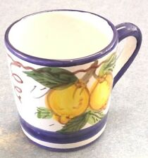 Vietri pottery-Blue Sorrento Pattern Mug,Made/painted by hand in ITALY