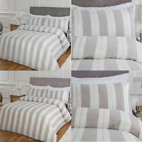 Lurex Jacquard Luxury Cotton Stripe Duvet Cover Set & Pillowcase