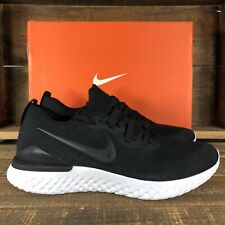 NEW Men's Nike Epic React Flyknit 2 Black Athletic Shoes Size 12