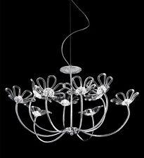 Lampadario contemporaneo design moderno in cristallo BELL daisy 3010/L10L