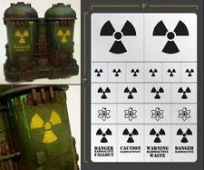 Radioactive Airbrush Stencil Terrain Vehicle Schablonen Maskierung Gestaltung