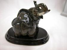 Xmas Closeout Porcelain Miniature Animal Elephant Salt  & Pepper w/Tray #SAP1102