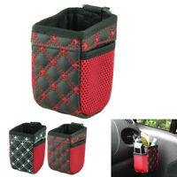 Holder Container Red Grid Car Air Vent Outlet Storage Bag Pen Card Ticket Phone