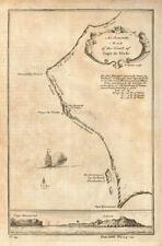 More details for map of the coast of cape de verde. cap vert senegal dakar. kitchin 1745