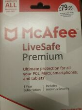 McAfee LiveSafe Premium - 1 Year Subscription