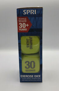 SPRI Exercise Dice Home Exercises Change Up Your Workout Neon Yellow New Boxed