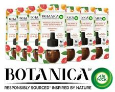 7 x Botanica Air Wick Scented Oil Refill Moroccan Mint and Pink Grapefruit 19ml
