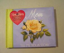 MOM TELL ME YOUR STORY RECORD A MEMORY JOURNAL BOOK MOTHERHOOD FAMILY HISTORY .