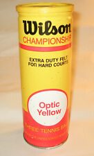 Vintage Tennis Ball Can - Wilson Optic Yellow (no balls included, can only)