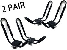 2 Pair J Bar Kayak Ski Snowboard Wakeboard Paddleboard Car Top Roof Rack Carrier