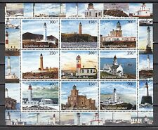 Mali, 1998 Cinderella issue. Lighthouses sheet of 9. *