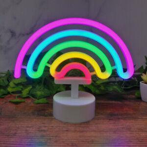 Rainbow LED Neon Light Stand Bar Lamp Home Nursery Room