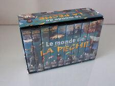 Le monde de la pêche coffret 10 K7 vidéo VHS collector kassette peach