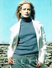 PUBLICITE ADVERTISING 074  1999  CELINE  pret à porter mode manteaux pulls