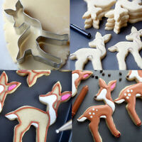 Elk Biscuit Cookie Cutter Stainless Steel Fondant Christmas Chocolate Mold Home