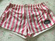Original Mens Vintage 70s pink white striped lined mens shorts Retro Glanz