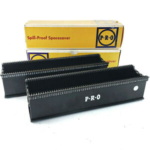 LOT 2 Promaster Spill-Proof Spacesaver 60 capacity slide tray 8671 argus comp
