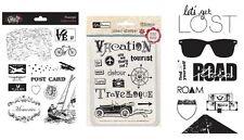 3 Sets Stamps - Vacation, Bon Voyage, Tourist, Road Trip, Interstate, Honeymoon