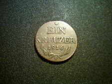 1816 S Austria 1 Kreuzer Coin. BELLA Grade