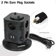 Potencia de nivel de 2 safemore stackr Power Board en Negro para su uso con enchufe de 2 Pines Euro