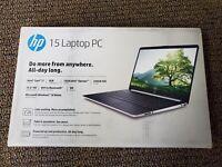 "Brand New HP Laptop i7 15"" 8GB RAM 256GB SSD 16GB Optane Carbon Slate - DY1071WM"