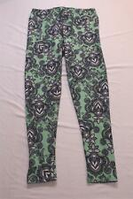 LulaRoe Women's Tall & Curvy Floral Paisley Stretch Leggings CD4 Green One Size
