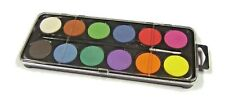 12 Disc Watercolour Paint  Children's Painting Palette Case & Brush Set