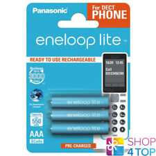 3 PANASONIC ENELOOP LITE RECHARGEABLE AAA HR03 BATTERIES BLISTER 1.2V 550mAh NEW