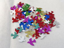 100 Tauben Streuelemente Streudeko  Tischdeko  Basteln Multicolor  ca 10 mm