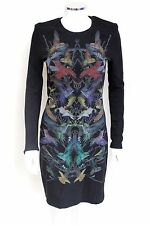 McQ Alexander McQueen Hummingbird-print stretch-jersey dress S