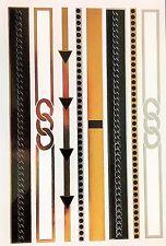 Bigiotteria, una volta Tatuaggio, oro tatuaggi/snt-003-c, Nero/Oro Catene