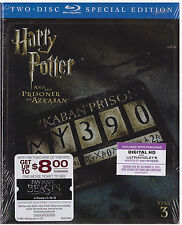 HARRY POTTER 3 PRISONER OF AZAKBAN (Blu-ray,2-Disc,Digital Copy) NEW WITH SLEEVE