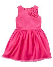 NWT Carters Girl Sleeveless Pink 3D Flower Dress Dressy Wedding Easter 5 5T