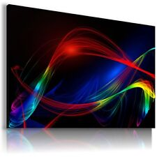 FLASH LIGHTS ABSTRACT CANVAS WALL ART PICTURE LARGE SIZES AB684 X MATAGA .