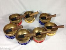 10 Cm Tibetan handmade 7 Metal 7 Bowl in a set for wholesale Buyers