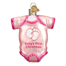Old World Christmas Ornament...Pink Baby One Piece